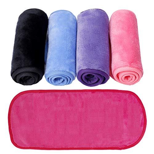 Make-Up Entferner Tuch 5 Stück Abschminktücher Mikrofaser zum Abschminken Waschbar Wiederverwendbar Gesichtsreinigungstuch 40cm x 16cm