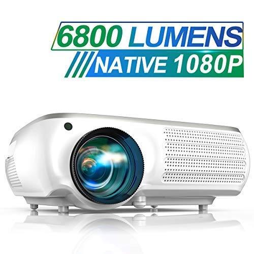 puissant Vidéoprojecteur TOPTRO 6800 lumens Vidéoprojecteur Full HD 1080P résolution native 1920 x 1080 Prise en charge 4K, son…