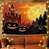 YYRAIN Halloween Poliéster Tapiz Decoración De La Pared del Hogar Barra De Tela Banquete Colgante De Pared Grande 39x28 Inch{W100xH70cm}