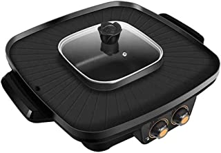 DFjTP Korean Practical Electric Hot Pot, Two-Way Electric Baking Pan, 304 Aluminum Alloy Material, Sturdy and Durable, Essential Household Kitchenware