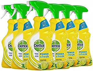Dettol Power en Fresh Allesreiniger Spray Citrus 6 x 500 ml Grootverpakking