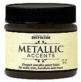 Rust-Oleum 255332 Metallic Accents Paint, 2 oz Trial Size, Classic Bronze