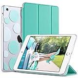 ULAK iPad Mini 1/2/3 Hülle, [Klassische Serie] PU Leder Tasche Schutzhülle Transluzent Rücken Deckel mit Auto Schlaf/Wach Funktion Tablet Hülle für iPad Mini/iPad Mini 2/iPad Mini 3 - Mint