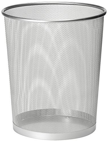 Zuvo Metal Wire Mesh Waste Basket Garbage Trash Can For Office Home Bedroom Height 10.1