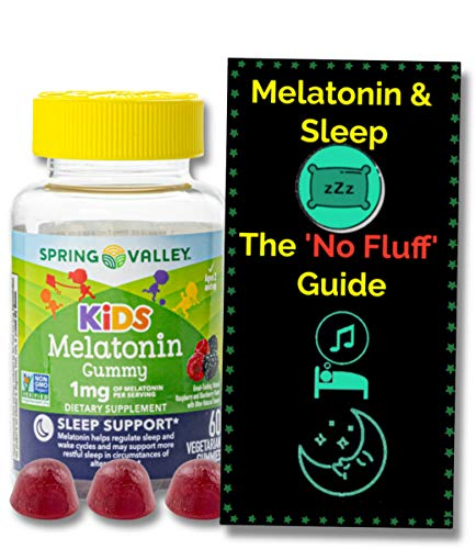 Melatonin for Kids Gummies (1mg) 60 ct from Spring Valley. + 'No Fluff' Melatonin and Sleep Guide©