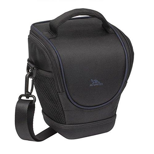 RIVACASE Colt SLR Kameratasche - Hochwertige Tasche mit Antishock Verstärkung & wasserabweisenden EVA Material - Schwarz