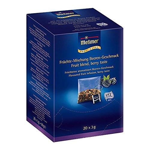 Meßmer ProfiLine Früchte-Mischung Beeren-Geschmack, 20 Kissen, 1er Pack