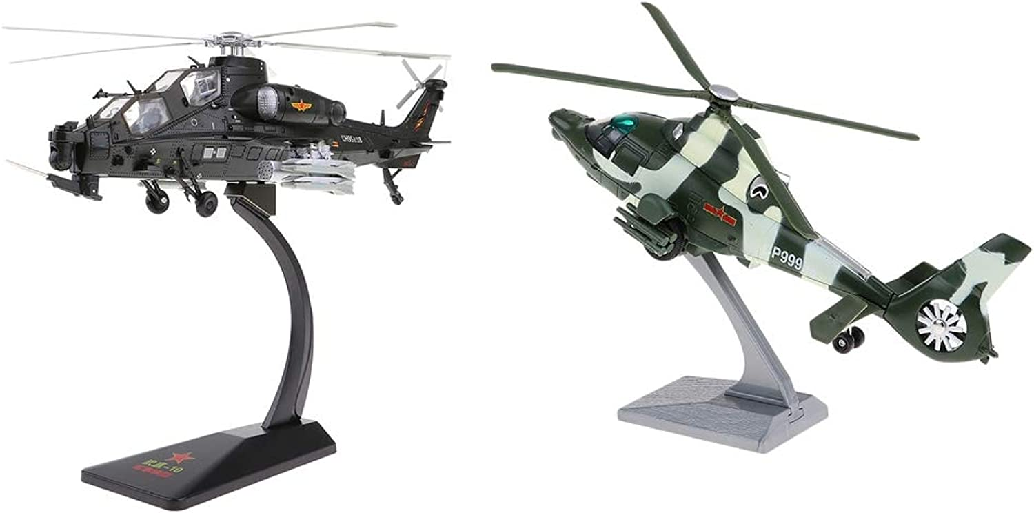 SM SunniMix 2pcs Alloy Retro Diecast Warplane Fighter Model for Helicopter Hobby Fans