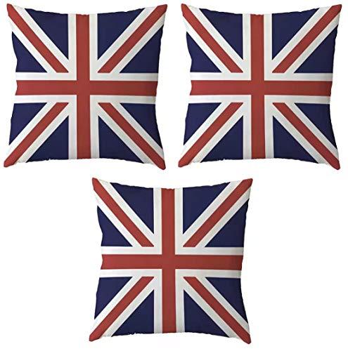 Tanto Badges Pack of 3 United Kingdom Union Jack Flag Cushion Covers 45cm x 45cm