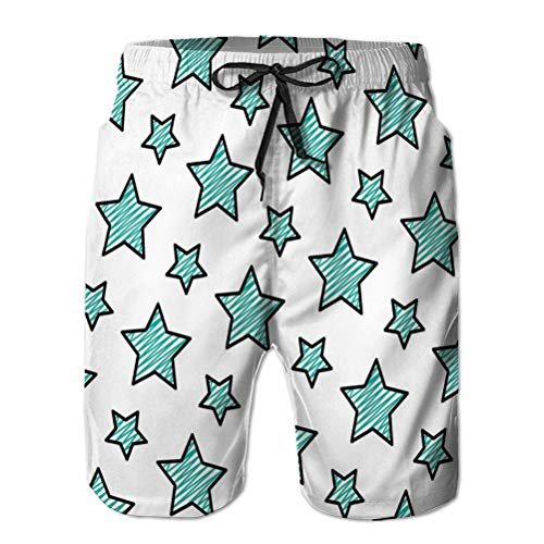 Men's Shorts Swim Beach Shorts for Surfing Swimming Doodle Beauty Bright Star un