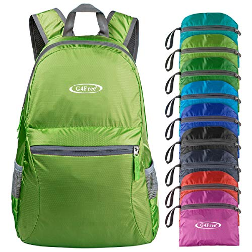 G4Free Ultra Lightweight Packable Backpack Hiking Daypack,Handy Foldable Camping Outdoor Backpack(Green)