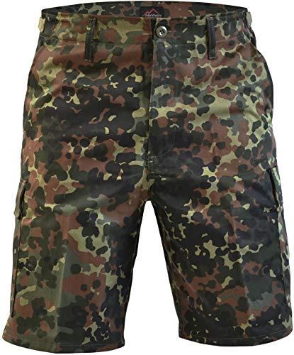 normani normani Kurze Bermuda Shorts US Army Ranger Feldhose/Arbeitshose S - XXXL Farbe Flecktarn Größe XXL