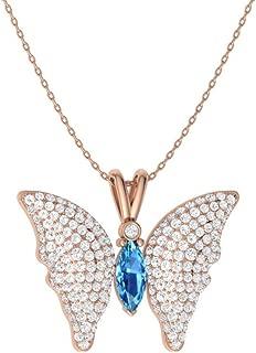 Best blue topaz butterfly pendant Reviews