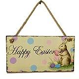 Messaggio d'auguri di Pasqua su targa decorativa in legno