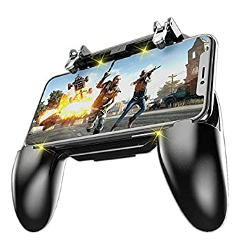 COOBILE Mobile Game Controller for PUBG Mobile Controller L1R1 Mobile Game Trigger Joystick Gamepad for 4-6.5  iOS & Android Phone W10 Update