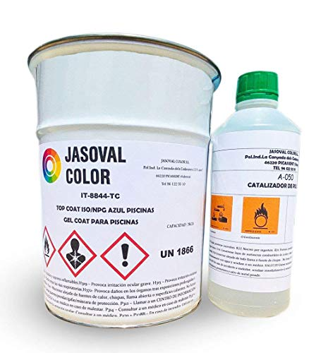 Pintura Gel Coat Piscinas - Jasoval Color - (10KG, Azul Mar Caribe)