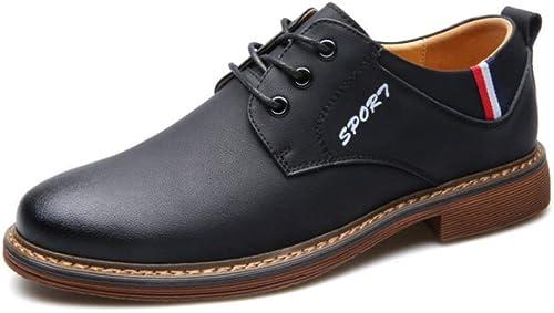 Ruiyue Cinturón Oxford Tallaño en Cuero Genuino Estilo Oxford para hombres (Color   negro, Tamaño   46 EU)
