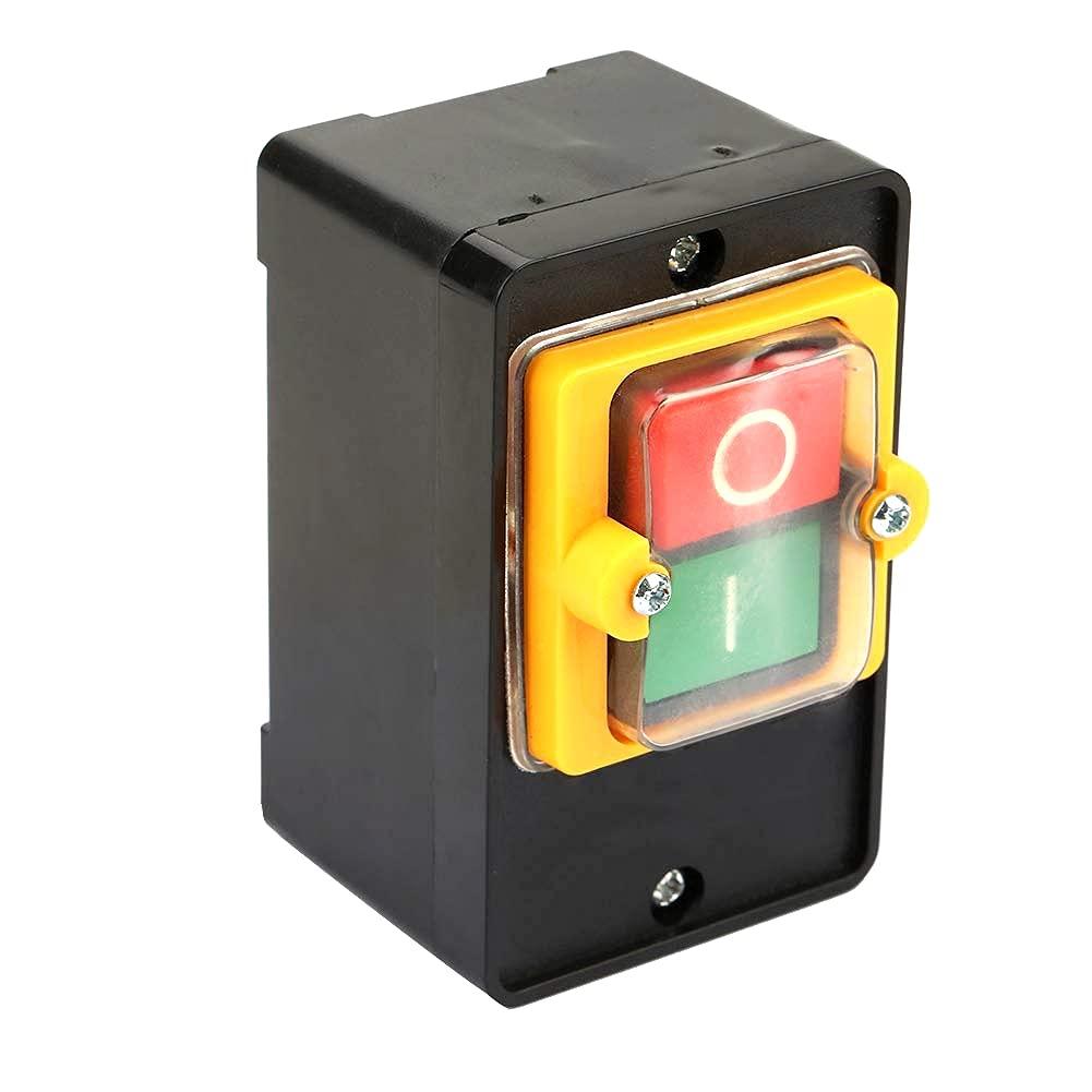Interruptor de botón de encendido Interruptor de arranque y parada de motor AC220V/380V 10A Botón de encendido/apagado a prueba de agua Dos botones con superficie Impermeable Soporte de caja a prueba