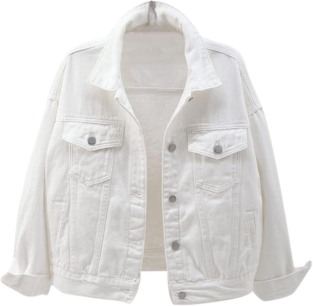 GYUANLAI Womens Short Denim Coat Waistcoat Jacket Ladies Buttoned Denim Jacket