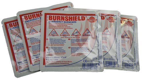 Pack of 5 Burnshield Emergency Burncare Dressing 10x10cm by EVAQ8