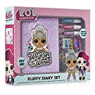 L.O.L. Surprise ! Girls Diary Journal | LOL Doll Kitty Queen Fluffy Diary Set For Girls With Plush Cover and Stickers | Journal Diaries and Stickers Set | Gift For Kids | Great Presents For Girls