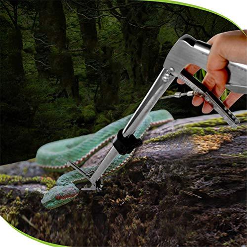 Dbtxwd Serpiente Catcher Acero Inoxidable Mandíbula Ancha Pinzas de Serpiente retráctiles Herramienta de Entrega Reptiles Catcher Clamp Grabber Lock,Foldable120cm