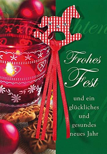 Weihnachtskarte Lifestyle - Teelicht - 11,6 x 16,6 cm
