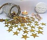 versandhop Konfetti-Sterne Gold-Glitzer Effekt-Konfetti 2,5cm 25mm Groß Basteln Hochzeit...