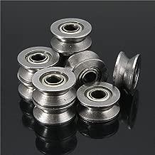 ZHANGAO 10pcs 624VV V Groove Sealed Ball Bearings V Groove 4x13x6mm 1.5mm Deep Ball Bearings Tool accessories