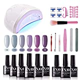 Best Gel Nail Kits - IXO Gel Nail Polish Starter Kit with Upgraded Review