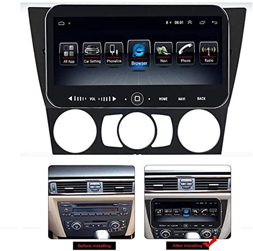 N/Z Inicio Equipos Estéreo de Coche de 10,25 Pulgadas para BMW E90 2005-2013 Radio Multimedia Android 9.1 Soporte 7 Luces/Bluetooth/Cámara Trasera (Regalo) / Carplay/OBD 4G WiFi 4G 64G