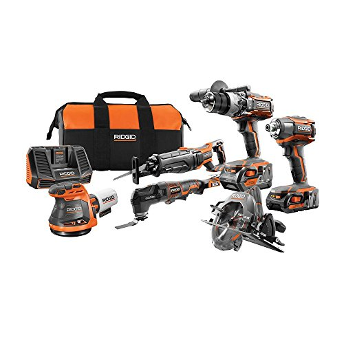 Review Of RIDGID 18-Volt Gen5X Cordless 6 Piece Combo Kit with (1) 4.0Ah Battery and (1) 2.0Ah Battery, Charger and Bag