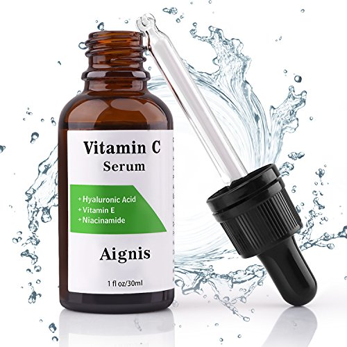 Vitamin C Serum, For Face 20% Organic Vit C + E + Hyaluronic Acid,1 fl oz by Aignis