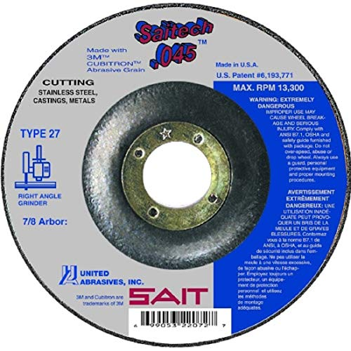 SAIT Abrasive Cut Off Wheels Type 27 (42) Saitech High Performance 4-1/2