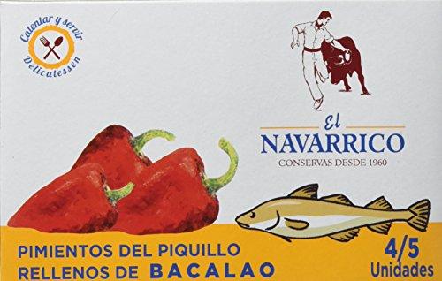 El Navarrico Pimientos Rellenos de Bacalao - Paquete de 3 x 260 gr - Total: 780 gr