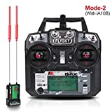 LITEBEE Flysky FS-i6X Radio Transmitter (10CH, 2.4GHz, AFHDS 2A) RC Transmitter with Flysky ia6b RC Receiver for FPV Racing RC Drone Quadcopter by (MODE-2 Left Hand Throttle) (Flysky i6X iA10B)