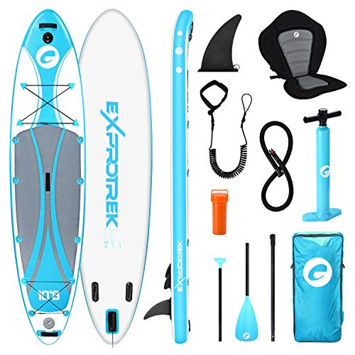 Exprotrek Unisex Adult E-s-1 stand up paddle board, Blue, 10 8 EU