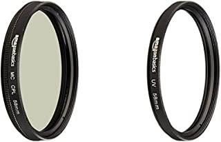 Amazon Basics - Filtro polarizador Circular - 58mm + Filtro de protección UV - 58mm