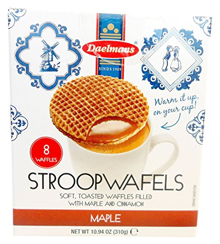 Daelmans Stroopwafels, Maple, 10.94 (8 Count Cube Box)