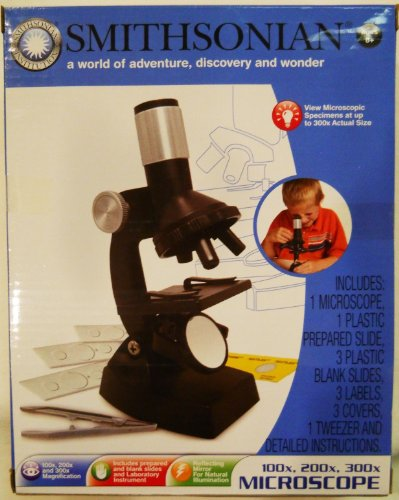 Smithsonian Microscope Set 100x, 200x, 300x