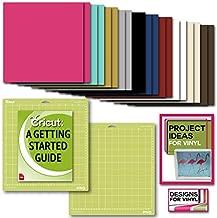 Cricut Premium Vinyl Pack, Standard Grip Mats, Beginner Guide & Designs