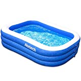 """Homech Family Inflatable Swimming Pool, 120"""" X 72"""" X 22"""" Full-Sized Inflatable Lounge Pool for Baby, Kiddie, Kids, Adult, Infant, Toddlers for Ages 3+,Outdoor, Garden, Backyard, Summer Water Party"""