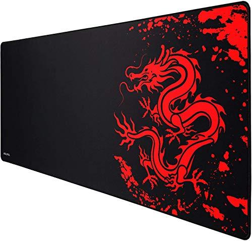 JIALONG Tapis de Souris Gaming Mousepad XXL Grand sous Main Bureau 900x400mm Mouse Pad avec Une Surface en Tissu Lisse, Une précision et Une Vitesse améliorées, conçu pour Le Joueur