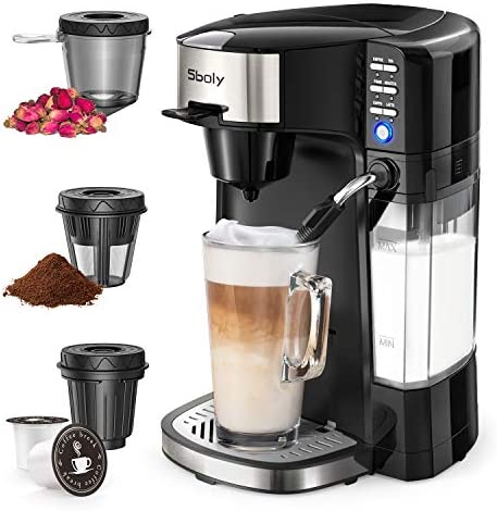 Sboly 6 In 1 Coffee Machine Single Serve Coffee Tea Latte and Cappuccino Maker Compatible With product image