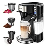 Sboly 6 In 1 Coffee Machine, Single Serve Coffee, Tea, Latte and Cappuccino Maker, Compatible With...