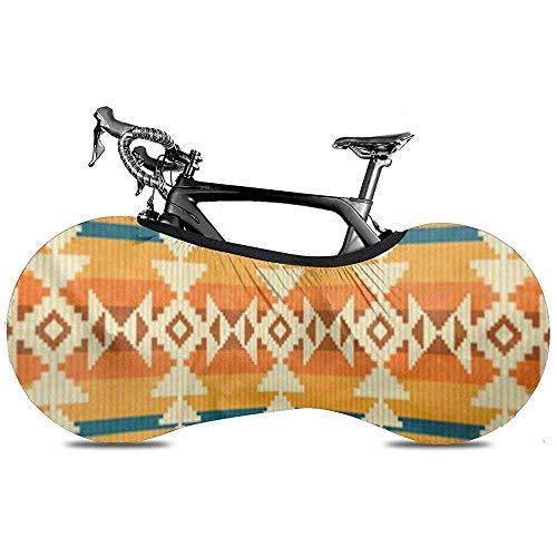 L.BAN Cubierta de Rueda de Bicicleta, Neumático de Engranaje de protección - Estilo étnico Navajo Geométrico México Peruano Mexicano Tribu Tradicional Americano