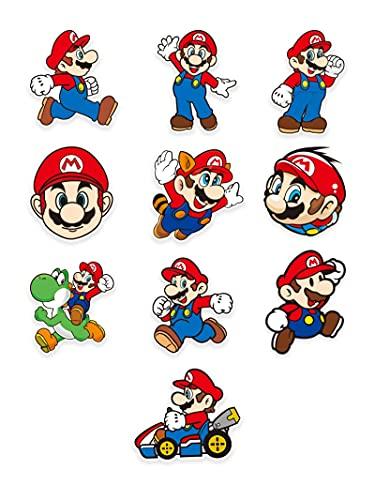 BUCUO Cartoon Anime Mario Personaggio Avatar Box Cabinet Sticker Laptop Trolley Viaggio Valigia Sticker