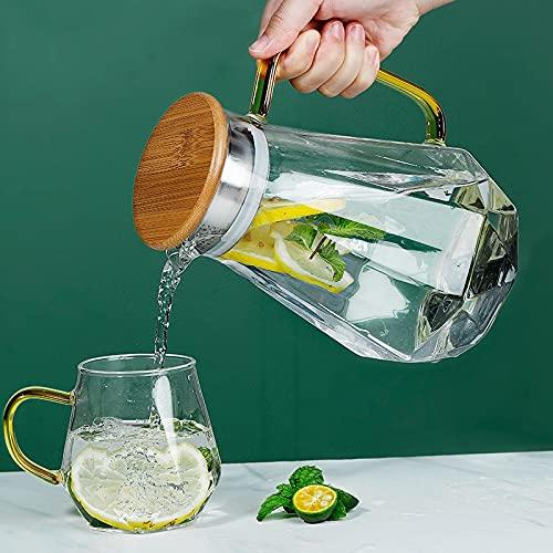 PPuujia Tetera de vidrio borosilicato transparente resistente al calor, gran tetera transparente perfumada set de té Pu'er hervidor de agua de oficina herramientas para el hogar (color: una olla)