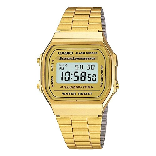 Casio Collection A168WG-9EF, Reloj Unisex, Or