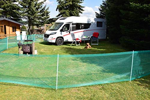 Begrenzungszaun Universal, grün, 80 cm, 20 m - Schutznetz Begrenzungszaun für Abgrenzungen sowie Schutz in Hof, Garten und Campingplatz - ideal zum Abstecken von Auslaufflächen und mobilen Gehegen